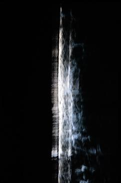 Mirror Threshold - Flicker, 2014 Direct ink-jet print on silver mirrored aluminum 74 3/4 x 46 3/16 inches