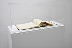 Keith Smith Book Number 28: Stitches, 1972 Handmade book with string 10 1/2 x 13 inches (26.7 x 33 cm)
