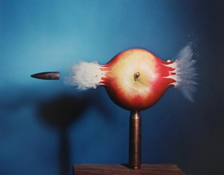 Bullet through Apple, 1938-1973 Dye transfer print 16 x 20 inches