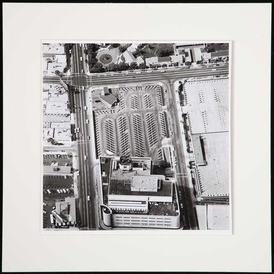 Untitled from Parking Lots, 1967-69 Gelatin silver print mounted to board 15 x 15 inches