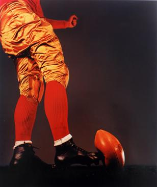 Football Kick, 1938-1973 Dye transfer print 16 x 20 inches