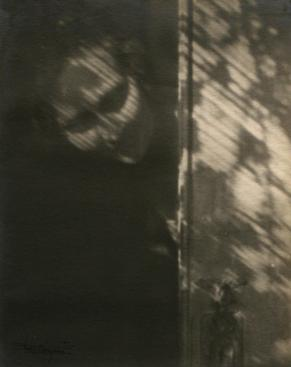 The Shadow on My Door (Self-Portrait), 1921 Gelatin silver print mounted to board, printed c. 1921 9 3/4 x 7 3/4 inches