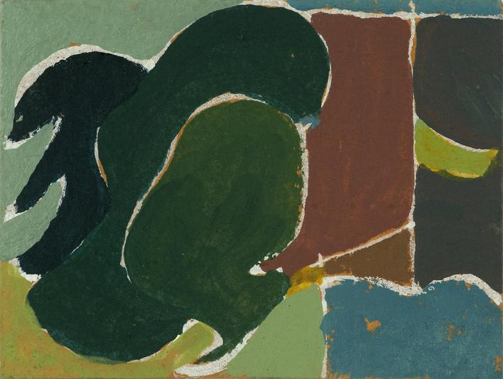 Arthur Dove  Untitled (6-8-43), 1943    Gouache on card. 3 x 4 inches