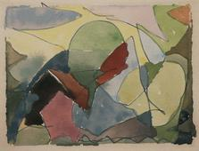 Arthur Dove  Untitled (6-11-42), 1942    Watercolor on paper. 3 x 4 inches