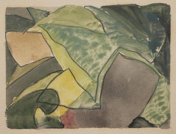 Arthur Dove  Untitled (6-3-42), 1942    Watercolor on paper. 3 x 4 inches