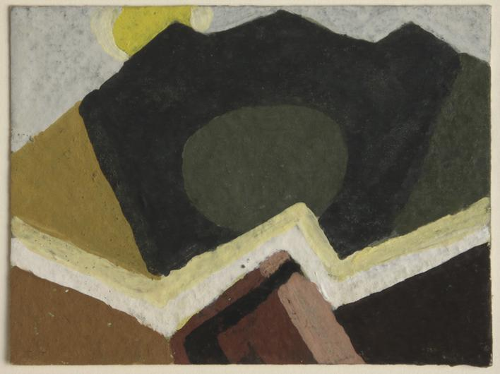 Arthur Dove Untitled (8-15-43), 1943    Gouache on paper. 3 x 4 inches