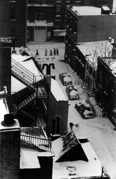 MacDougal  Alley in Snow, December 5, 1967 Gelatin silver print, printed c.1967 10 x 8 inches