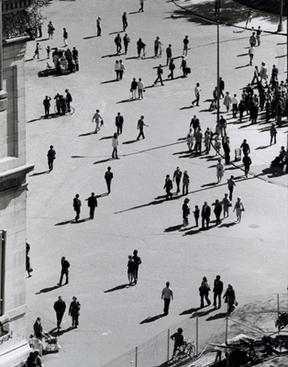 Birds Eye View, Washington Square Park, September 25, 1969, 1969 Gelatin silver print, printed c. 1969