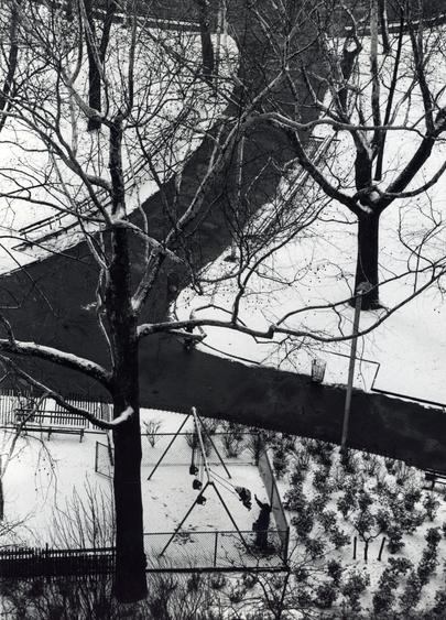 Swings, February 1, 1973 Gelatin silver print, printed c.1973 10 x 8 inches