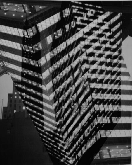 André Kertész Multiple Exposure, Lever House Building, 390 Park Avenue, New York, 1952 Gelatin silver print, printed c. 1952. 14 x 11 inches