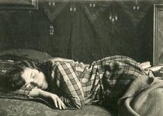 André Kertész Woman Sleeping, c. 1925-36 Gelatin silver contact print, printed c. 1925-36. 1 1/2 x 2 1/8 inches