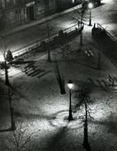 André Kertész Paris Night Square, 1927 Gelatin silver print, printed c. 1970s. 14 x 11 inches