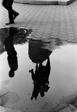 André Kertész Puddle and Reflection of Statue, Union Square, 1970 Gelatin silver print, printed c. 1970