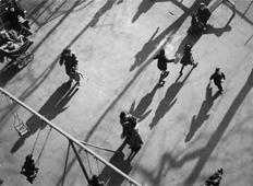 Children and Shadows in Park, 1951 Gelatin silver print, printed c. 1951