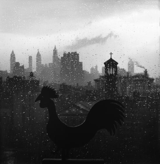 Weather Vane and New York Skyline, September 19, 1952 Gelatin silver print, printed c. 1970s