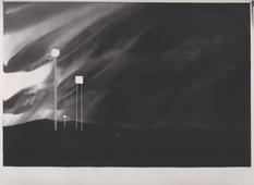 Four Signs, Tulsa, Oklahoma (from 100 Views Along the Road), 1981-1983 Watercolor on paper 45 x 60 inches