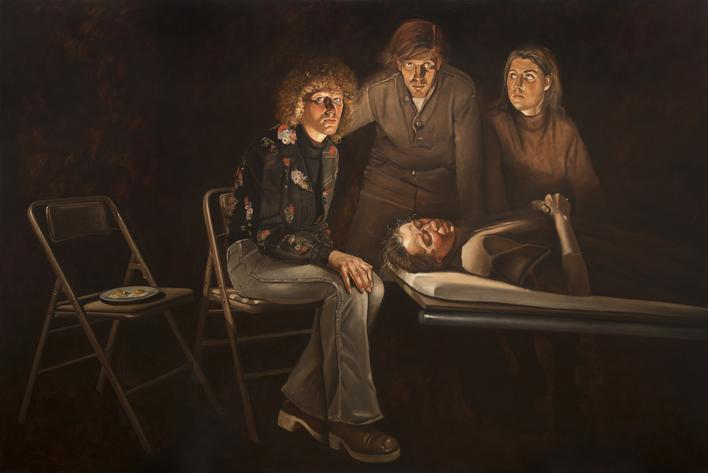 A Death in the Family, 1976, Oil on canvas, 72 x 108 in. / 6 x 9 ft. / 1.8 x 2.7 m