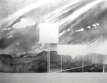 Towards Mt. Sugarloaf, Deerfield, Massachusetts(from 100 Views Along the Road), 1983 Large-format watercolor on paper 44 x 59 inches
