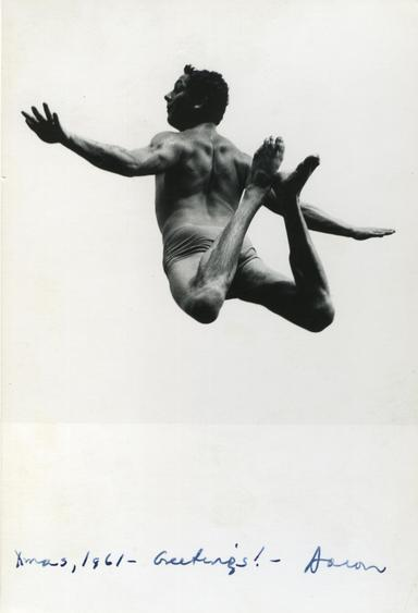 Aaron Siskind Image from Pleasures and Terrors of Levitation (Christmas Card), 1961 Gelatin silver print 6 3/4 x 4 1/2 in.