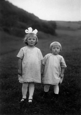 August Sander Farm Children, c. 1928     Gelatin silver print mounted to board, printed c. 1990. 10 1/4 x 7 1/4 in.