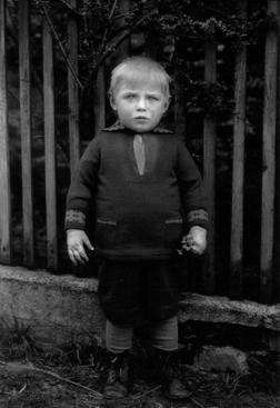 August Sander Farmer's Child, c. 1940s     Gelatin silver print mounted to board, printed c. 1990. 10 3/16 x 7 in.