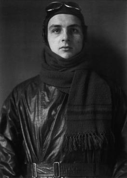 August Sander Aviator, 1920     Gelatin silver print mounted to board, printed c. 1990. 10 1/4 x 7 1/2 in.