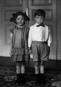 August Sander Middle-Class Children, 1925     Gelatin silver print mounted to board, printed c. 1990. 10 1/8 x 7 3/16 in.