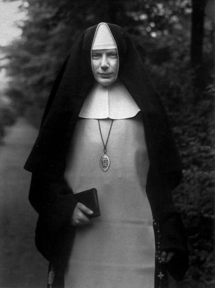 August Sander Nun, 1921     Gelatin silver print mounted to board, printed c. 1990. 10 3/16 x 7 9/16 in.