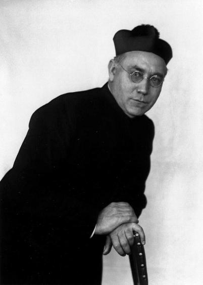 August Sander Catholic Priest, 1927     Gelatin silver print mounted to board, printed c. 1990. 10 1/8 x 7 3/8 in.