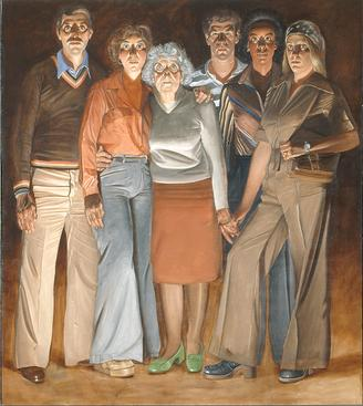 Americans: Youngstown, Ohio, 1977-1978, Oil on canvas, Center panel