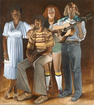 Americans: Youngstown, Ohio, 1977-1978, Oil on canvas, Right panel