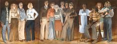Americans, Youngstown, Ohio, 1977-1978 Oil on canvas in three panels 108 x 288 inches