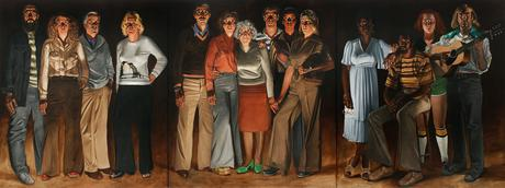 Americans: Youngstown, Ohio, 1977-1978, Oil on canvas, 108 x 288 in. / 9 x 24 ft / 2.7 x 7.3 m