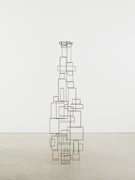 Antony Gormley (b. 1950) Tense, 2011 3mm square stainless steel bar 67 x 19 1/4 x 19 inches (170 x 49 x 48 cm)