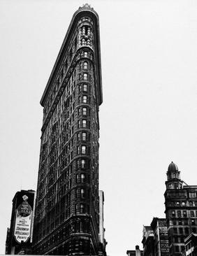 Flatiron Building, New York, 1936 Gelatin silver print mounted to board. 13 3/8 x 10 1/2 inches