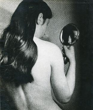 Nude with Mirror through Gauze, c. 1930 Gelatin silver print, printed c. 1930 9 x 7 7/8 inches