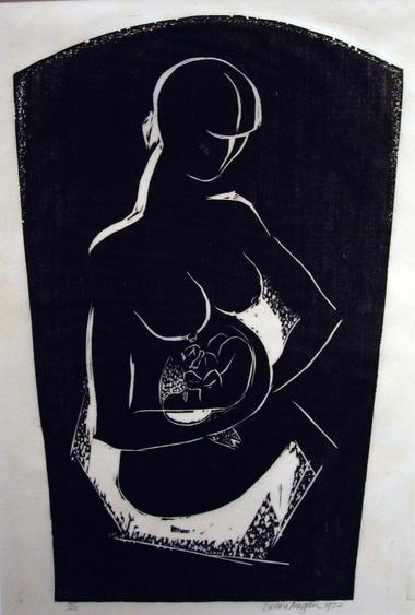 Growing, 1932 Woodblock print on paper 14 x 9 ½ inches