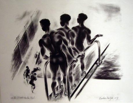 Divers (Harlem Pool), 1934 Lithograph on paper 16 x 22 ½ inches