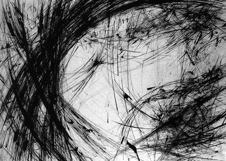Orbital Episodes, 1960 Ink on paper 22 x 16 inches