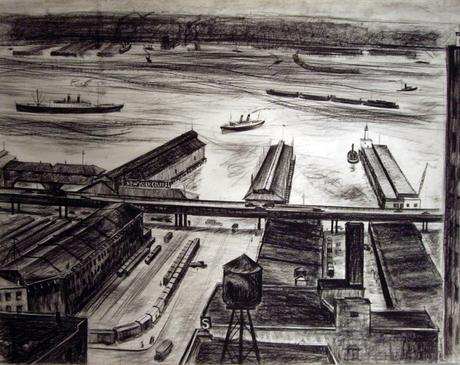 New York Hudson River, 1934 Lithograph on paper 11 x 15 inches