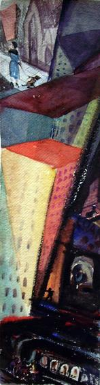 Untitled, c. 1930 Watercolor on paper 20 1/2 x 5 1/2 inches