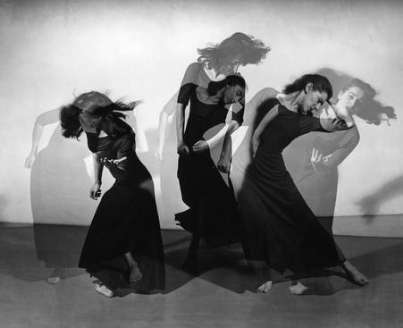 Martha Graham, American Document (Trio), 1938 Gelatin silver print mounted to board, printed later 7 x 8 3/4 inches