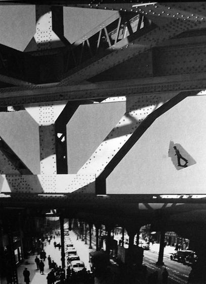 Third Avenue El, 1936-79 Photogram mounted to board, printed 1936-79 12 x 8 1/2 inches