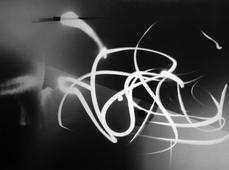 Serpent Light III, c. 1955 Photogram, printed c. 1955 25 x 29 inches