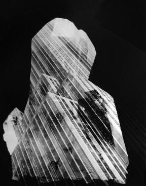 Crystalized Skyscraper, 1973 Photogram mounted to board, printed 1973 13 x 10 inches