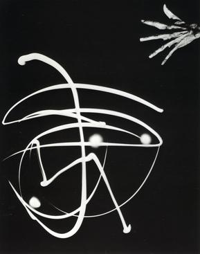 Pure Energy and Neurotic Man, 1940 Gelatin silver print mounted to board, printed later 13 1/2 x 10 1/2 inches