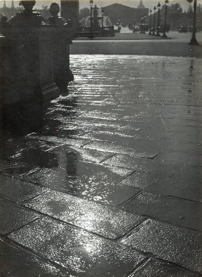Brassai Pavement Reflection, Place de la Concorde, c. 1930s Gelatin silver print, printed c. 1930s. 9 1/8 x 6 13/16 inches