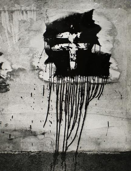 Graffiti - Cross of Lorraine, 1945 Ferrotyped gelatin silver print, printed c. 1945 11 11/16 x 8 7/8 inches