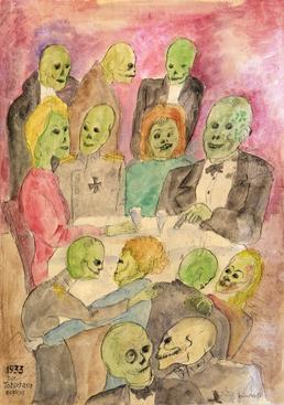 Bruno Voigt The Death Dance Begins, 1933 Watercolor, pencil and ink on paper. 23 1/2 x 16 inches