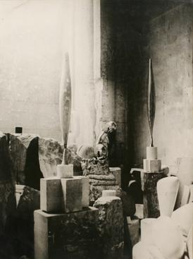 View of the Studio: Bird in Space, 1924 Gelatin silver print, printed c. 1924. 15 5/8 x 11 3/4 inches